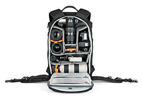 Lowepro Protactic light; professional ProTactic 350 AW II Black for Laptop Up to 15 Inch, DSLR, Mirrorless CSC or DJI Mavic Drones, Black (LP37176-PWW)