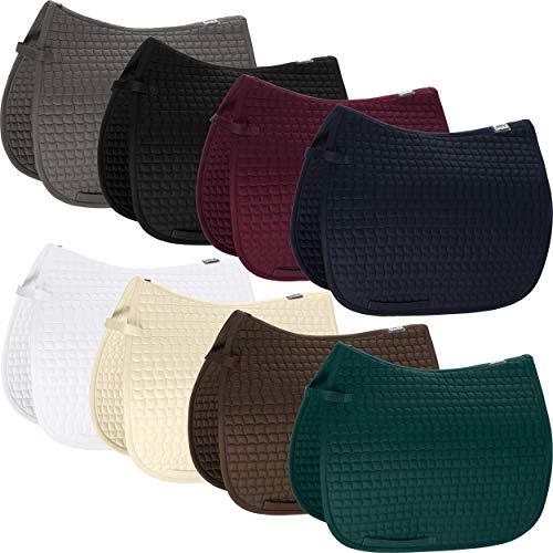 Eskadron Schabracke Cotton, BlackBerry, racinggreen Form Dressur, Farbe BlackBerry
