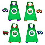 4 TMNT Cosplay Costumes Cloak with Mask for Kids