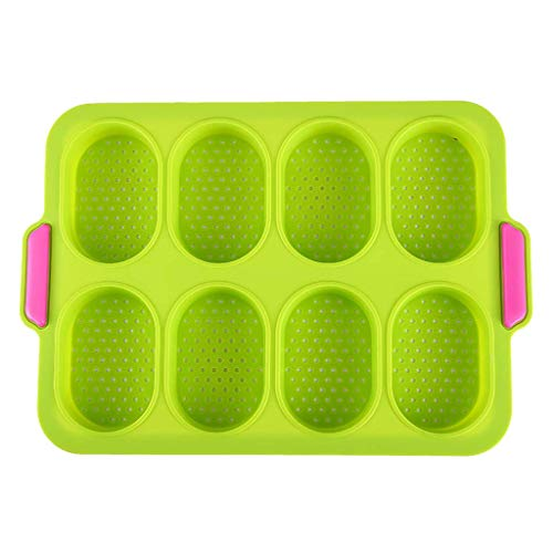 Case 12 Grid Silicone gâteau Pan Muffin Pizza Pizza Pizza Bac de cuisson Cuisson Moule de cuisson pour gâteau/Jelly/Jelly/Savon/Pudding - Fours/Micro-ondes/Lave-vaisselle/Coffre-fort WTZ