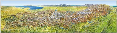 Das grosse Alpenpanorama Sommer, Poster (MAIRDUMONT Panoramen) by Hans Oberacher(13. November 2018)