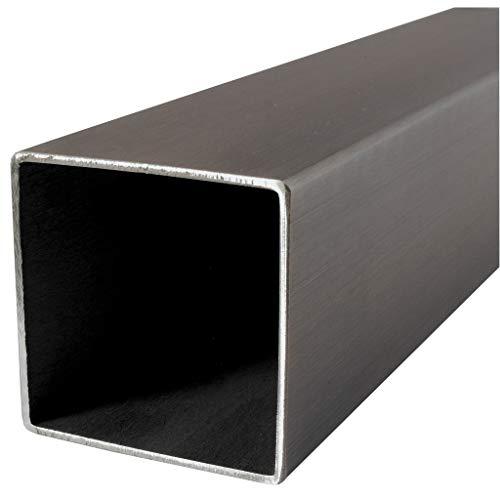 Tubo rectangular - cuadrado de acero inoxidable V2A, cualquier cantidad, cualquier longitud, a la medida deseada, 2600, 60 x 60 x 2 mm., 1