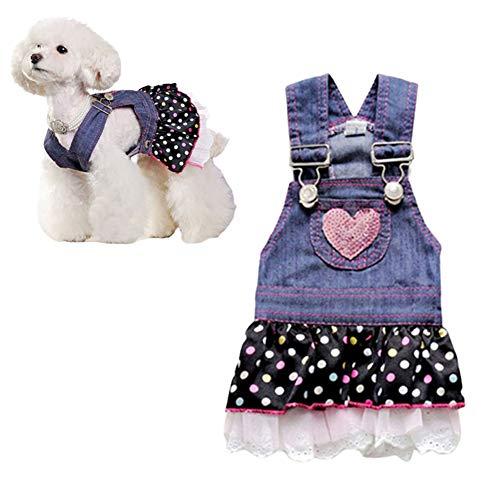 MEISISLEY Vestido de Perro Trajes para Perros pequeños Vestido de Novia Dulce Cachorro Vestido de Perro para el Verano Ropa para Perros pequeños XL