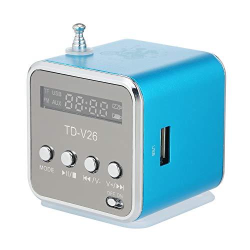 Docooler Mini Altavoz con Cable de 3.5 mm Reproductor de MP3 portátil Radio FM Amplificador de música Soporte Tarjeta TF U Disco Altavoz para DVD Laptop Teléfono móvil