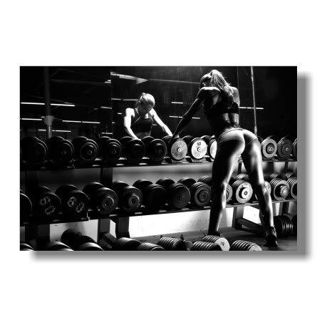 Aya611 Allenamento in Palestra Fitness Bodybuilding Poster motivazionali Stampe d'Arte Esercizio Fitness Immagini a Parete Palestra50x70cm Senza Cornice