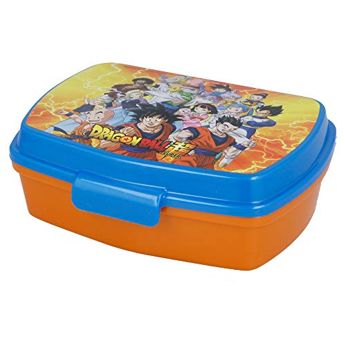 | Dragon Ball | Sandwichera Para Niños Decorada - Fiambrera Infantil | Caja Para El Almuerzo Y Porta Merienda Para Colegio -...