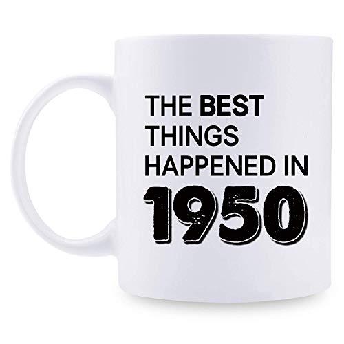 70. Geburtstagsgeschenke für Frauen - 1950 Geburtstagsgeschenke für Frauen, 70 Jahre alte Geburtstagsgeschenke Kaffeetasse für Mutter, Frau, Freund, Schwester, Sie, Kollegin, Mitarbeiter - Die besten