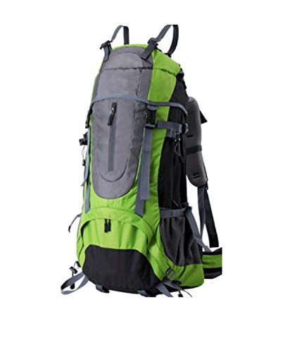 Yy.f Aventure En Plein Air Matériel De Camping Voyage Loisirs Larges épaules De 60L De Capacité Sacs Alpinisme La Randonnée Sac De Voyage Sac à Dos. 3 Couleurs,Green-36*21*70cm