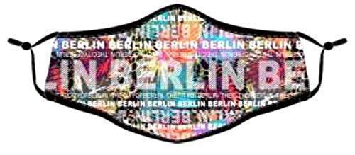 Gesichtsmasken 2er Pack Baumwolle Masken Mundschutz waschbar wBerlin Bunt wiederverwendbar (Berlin bunt)
