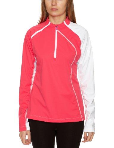 SALOMON XT Softshell T-Shirt à Manches Longues et Fermeture Éclair pour Femme Rose/Blanc Taille XS