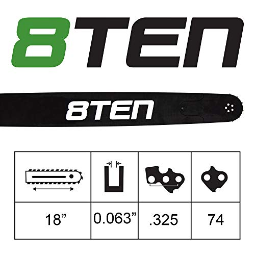 8TEN Chainsaw Guide Bar for Stihl MS 280 290 361 440 660 3003 008 6817 183SLGD025 18 inch .063 .325 74DL
