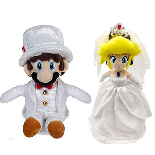 Yijinbo 2X Super Mario Odyssey Princesa Peach Mario Vestido
