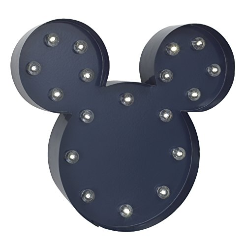 Disney Mickey Mouse Light Up Nursery Wall Decor with 2 Hour Timer, Navy