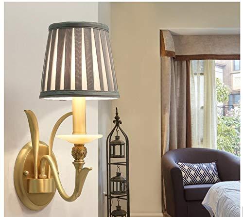 Buitenlamp, wandverlichting, wandlamp, wandlamp, binnen, Amerikaanse koperen wandlamp, verlicht creatief retro, eenvoudige slaapkamerbedgang landelijk