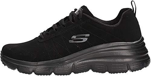 Skechers 88888366 Chaussures de Tennis Femme Noir 35