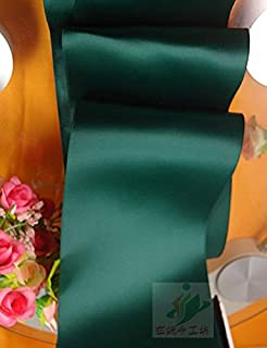 ODIN-Ribbons - 100mm double faced ribbon blackish green ribbon diy wedding chair back and colored ribbon 10cm double faced...