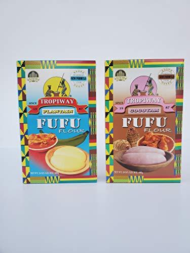 Tropiway Plantain and Cocoyam Fufu Flour 24oz