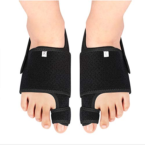 1 par de alisadores del dedo del pie del juanete, corrector del hallux valgus, corrector del dedo del pie Corrector del juanete con almohadilla del enderezador del arco de silicona corrección