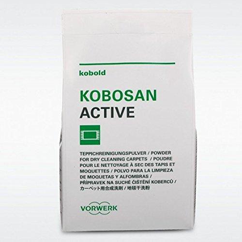 Kobosan Active, Teppichreiniger-Pulver, Originalprodukt von Vorwerk, 5 Beutel mit 500 gr