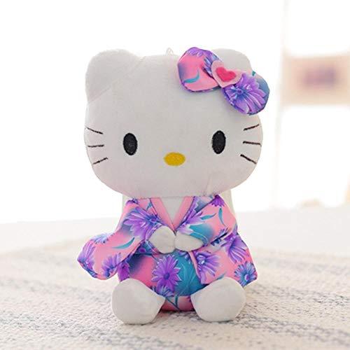 stogiit Kimono Bambola Kt Hello Kitty Peluche Afferrare Bambola Macchina Piccolo Giocattolo Regalo di San Valentino-Rosa Viola20 Cm