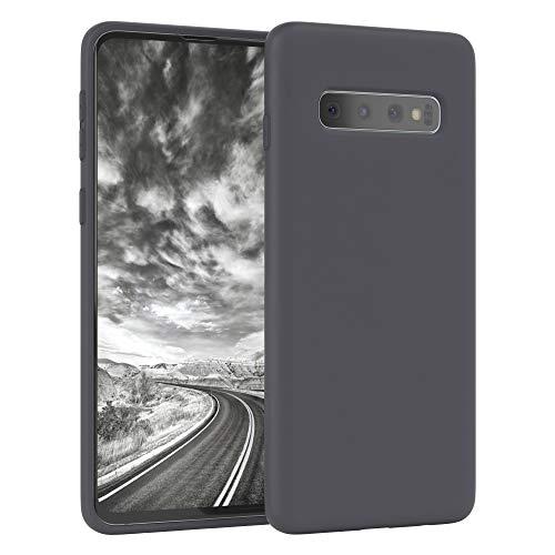 EAZY CASE Nano Silikon Handyhülle kompatibel mit Samsung Galaxy S10, Slimcover mit Kameraschutz & Innenfutter, Silikonhülle, Schutzhülle, Bumper, Handy Hülle, Hülle, Softcase Ultra dünn, Anthrazit