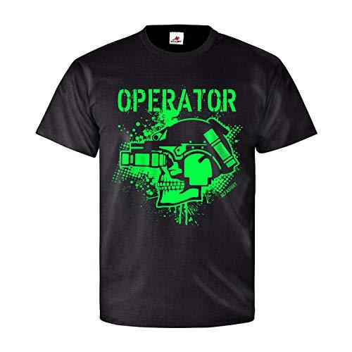 Operator Nachtsicht Gerät Airsoft Army BW Special Forces Games T Shirt #26678, Größe:L, Farbe:Schwarz