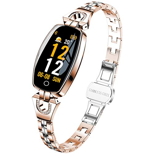 Pard New Women's Smart Watch, Delicate Heart Rate Blood Pressure Activity Fitness Tracker, Gold