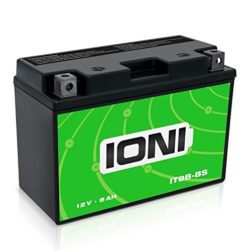 IONI IT9B-BS 12V 8Ah AGM Batterie kompatibel mit MG9B-4 / YT9B-BS / GT9B-4 versiegelt/wartungsfrei Motorradbatterie