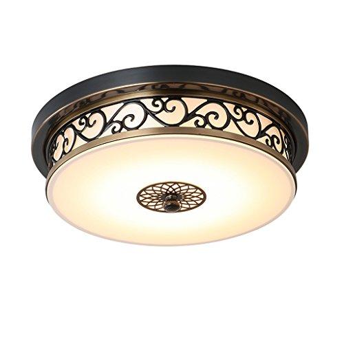 Ywyun Jardin de style européen LED plafond gradateur, plafond de fer américain, rétro salon balcon chandeliers décoratifs (Size : 30 * 10cm)