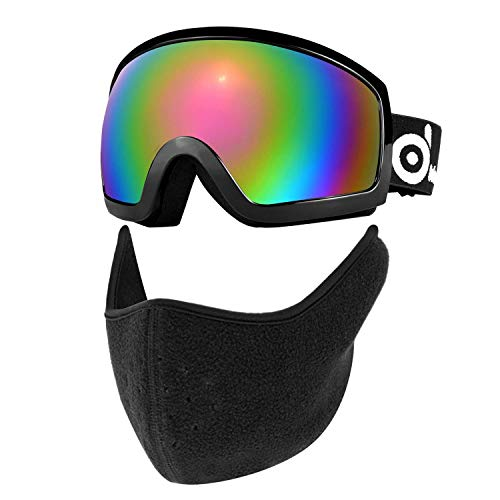 Odoland Ski Goggles with Ski Mask Set, Snow Goggles and Face Mask, Double Anti-Fog Lenses with UV400...