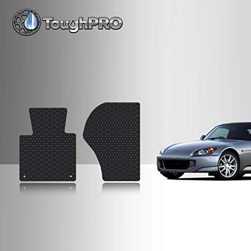 TOUGHPRO Floor Mat Accessories (Front Row Set) Compatible with Honda S2000 - All Weather - Heavy Duty - (Made in USA) - Black Rubber - 2000, 2001, 2002, 2003, 2004, 2005, 2006, 2007, 2008, 2009