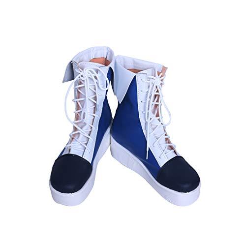 DUNHAO COS Anime Women's Vocaloid Hatsune Miku Winter Halloween Cosplay Custom Shoes Boots Male US 9/EU43 White