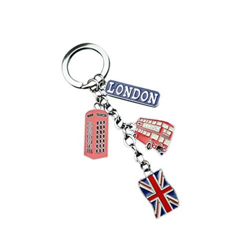 VALICLUD Llavero Londres Bus Teléfono Caja Union Jack...