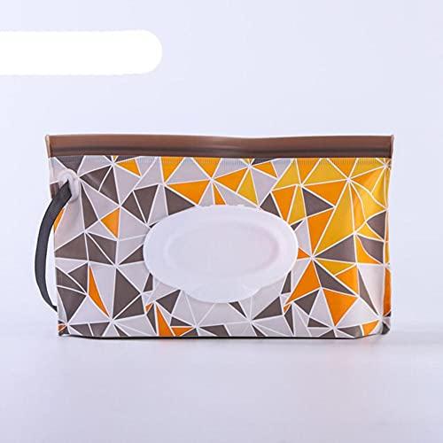 Estuche para toallitas de limpieza reutilizable para el hogar Portátil 1 pieza Ecológico Bolsa para toallitas húmedas Contenedor de toallitas Patrón de dibujos animados EVA-Geometry, China