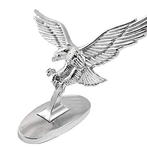 Hanbaili Auto Aufkleber Universal Auto Aufkleber mit 3D Flying Eagle Metall Motorrad Motorkap Abdeckung