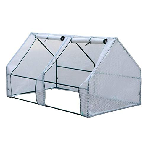 Xploit Greenhouse Cover, Small Portable Gardening Plant Cover With Double Roll-up Door, Durable Rainproof Protector Tool For Plants, Foldable Flowerpot Cover Flower Tent Shelter(Without Bracket)