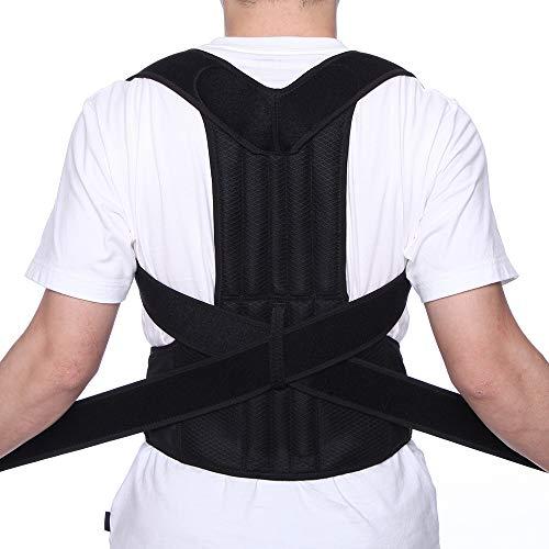 CFR Corrector de Postura Espalda y Hombros, Faja Postura de Espalda, Lumbar Corrección, Cuello Ajustable y Cómodo para Hombres y Mujeres, Dispositivo de Soporte para la Parte Superior de la Espalda