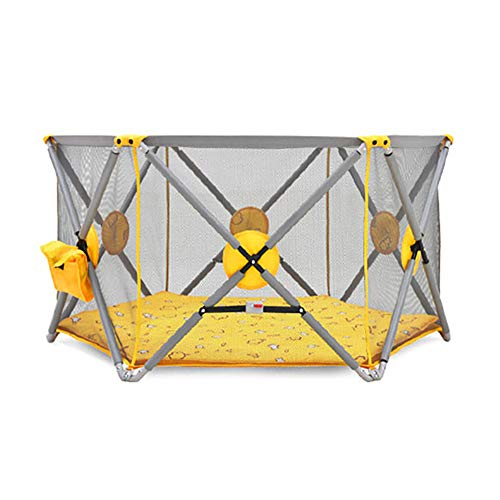 Review XXHDEE Baby Safety Fence Indoor Children's Play Fence Fence Playground Folding Free Installat...