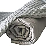 Cooling Bamboo Weighted Blanket 10 lbs, 40x60 |Twin| Waterproof Removable Duvet Cover, Premium Hypoallergenic Glass Beads Best Weighted Blanket | Luxurious Viscose Bamboo Fabric