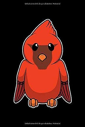 Notizbuch: 109 Seiten A5 - Gerahmte Seiten - Skizzenbuch - Zeichenbuch - Tolles Geschenk für Künstler Designer und Zeichner - Lustiger Süßer roter Vogel