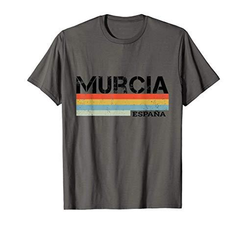 Murcia Retro Rayas Vintage Camiseta