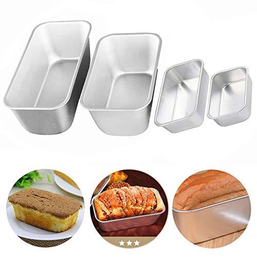 REYOK Brotbackform Kastenform, 4 pcs Kastenform Brotbackform, 2 in 1 Silikon Brotbackformen,Leicht zu Reinigen, Antihaftbeschichtung für Kuchen Brote Toast