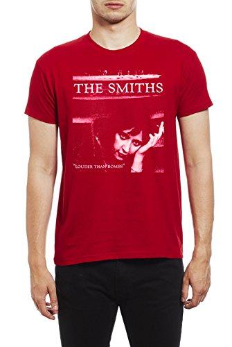 de Morrissey and The Smiths The Smiths Louder Than Bombs Camiseta para Hombre. Rojo/2XL