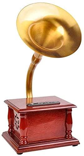 Fonógrafo de la vendimia giradiscos del jugador de Reproductor de grabación Bluetooth Reproductor de grabación de vinilo con altavoces con altavoces TurnTables para Vinyl Records 3 Speed Vintage Rec