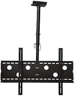 TradeMount Soporte de Techo para Monitor en Negro Extensible de 57cm a 80cm orientable, inclinable 20° girable 360° para Sony 65