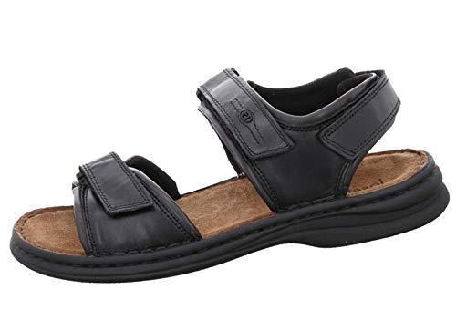 Josef Seibel Herren Klassische Sandalen Rafe,Weite G (Normal),Sandaletten,Sommerschuhe,klettsandalen,bequem,Schwarz (schwarz/Brasil),40 EU / 6.5 UK