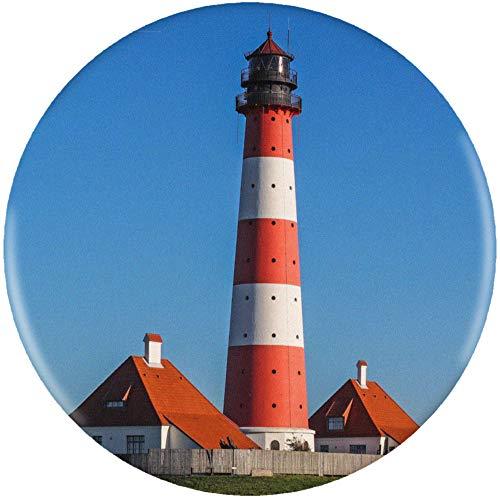 Stamp Press 58mm 'Leuchtturm' Pin Knopf-Abzeichen (BB00003437)