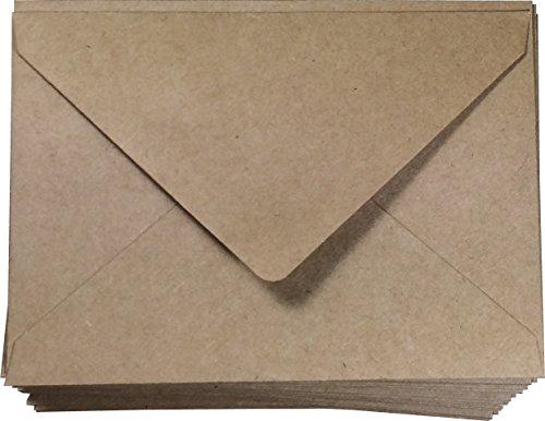 "A6 Envelope Kraft Invitation Envelope 4x6 | A6 Size 100 Pcs, 4 3/4"" x 6 1/2"" Inches, Wedding Invitation | Natural Brown Envelope | RSVP Envelopes"
