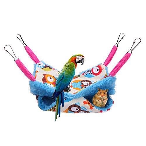Kohyum Hamaca Animales pequeños, Hamaca para pájaros de Doble Capa, Hamaca, Coral, vellón de Coral, Cama Colgante para Lindos hámsteres, Hurones, Loros