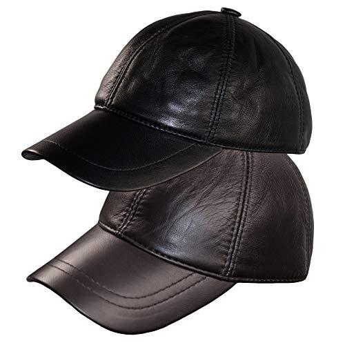 Dazoriginal Gorra Piel Béisbol Cuero Sombrero Hombre Gorras Planas Boina Mujer 2